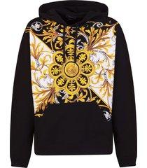 baroque print hoodie
