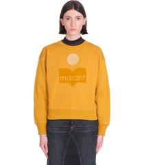 isabel marant mobyli sweatshirt in yellow cotton