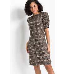 jurk met geplooide mouwen