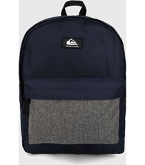 morral  azul navy- gris quiksilver everyday poster 30l