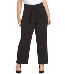 plus size women's leith high waist belted pants, size 2x - black
