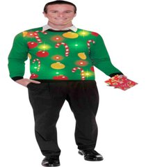 buy seasons men's christmas - light up ugly sweater