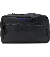 yohji yamamoto square waist bag - black