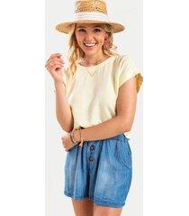 alesha button back blouse - lemonade
