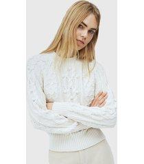 sweater pepe jeans blanco - calce ajustado