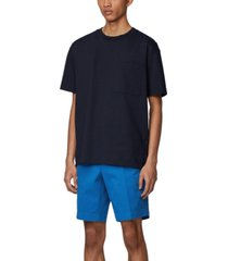 boss men's medium blue slice-shorts