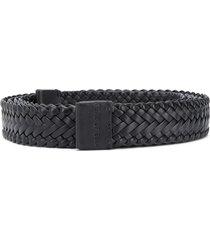 ermenegildo zegna fearofgodzegna woven tie-fastening belt - black