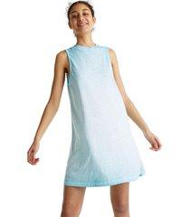vestido de algodón turquesa esprit