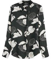 blouse regular drapey groen