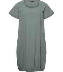 dress plus short sleeves cotton round neck dresses everyday dresses grå zizzi