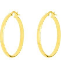 orecchini a cerchio in oro giallo mezzo tondo 30 mm per donna