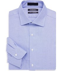 slim-fit basketweave cotton dress shirt