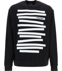 dsquared2 sweatshirt with stripes and logo