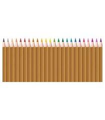 adesivo de parede infantil lapis de cor madeira 120x52cm