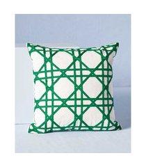 capa de almofada rise: capa de almofada quadrada cor: verde - tamanho: único