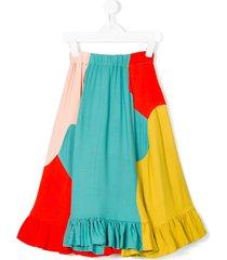 raspberry plum delaney colour block skirt - multicolour