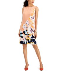 jm collection petite printed dress, created for macy's