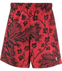 alexander mcqueen ivy creeper swim shorts - red
