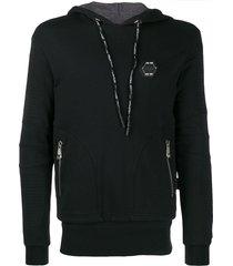 philipp plein 10 statement hoodie - black