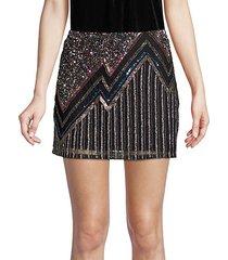 corsica beaded mini skirt