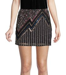 corsica beaded mini skirt