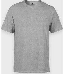 męska koszulka (bez nadruku, gładka) - szara (melanż)