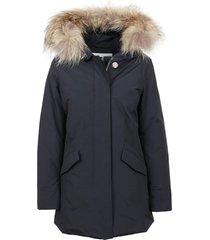 blue cotton padded coat