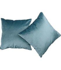 poduszka 45x45 cm velvet błękit poszewka