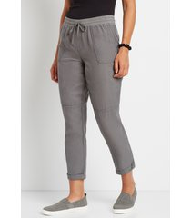 maurices womens gray weekender pants