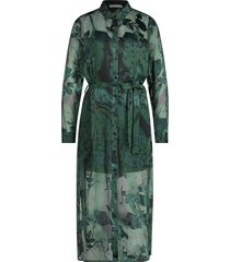maxi-jurk met bladerenprint harper  groen
