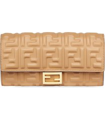 fendi baguette continental wallet - neutrals