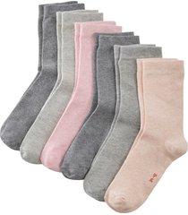 strumpor med bekväm mudd (6-pack), ekologisk bomull
