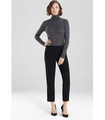natori bi-stretch pants, women's, black, size 8 natori