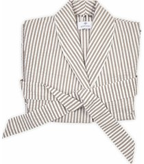 matouk matteo stripe robe, size x-small - brown