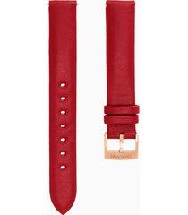cinturino per orologio 14mm, rosso, placcato color oro rosa
