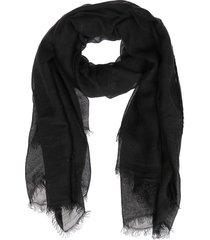 black viscose-modal blend scarf