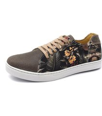 sapatãªnis shoes grand beach floral tropical - caf㨠- marrom - masculino - tãªxtil - dafiti