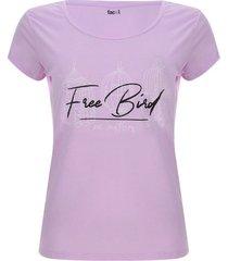 camiseta descanso free bird color morado, talla xs