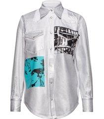 foundation western shirt overhemd met lange mouwen wit calvin klein jeans