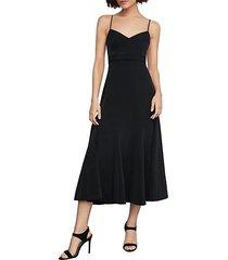 strappy midi fit-&-flare dress