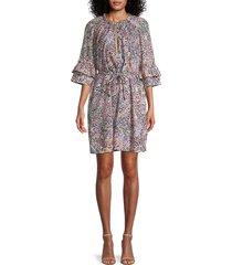 rebecca minkoff women's serafina floral bell-sleeve dress - size xs