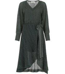 chloé belted lurex dress