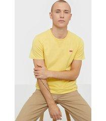 levis ss original hm tee cotton t-shirts & linnen yellow/orange