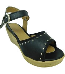 sandalia negra cianna confort