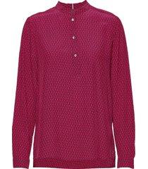dion p-over blouse ls blouse lange mouwen roze tommy hilfiger