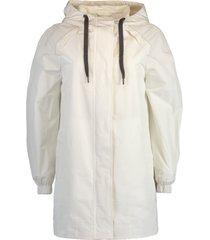 chalk hooded taffeta jacket