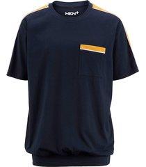 t-shirt men plus marine::geel::wit