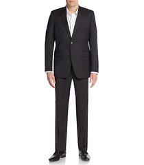 extra slim fit solid wool suit