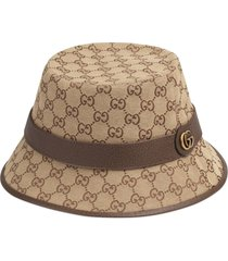 gucci gg canvas fedora - neutrals