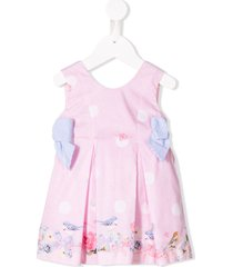 lapin house spring bow dress - pink